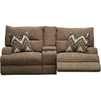 3268-54HP/PWRCNLV/HR Brindle Brown Power Loveseat - Happy