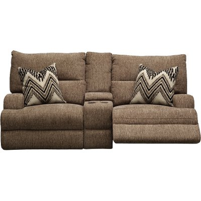 Brown Power Loveseat - Brindle