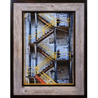 Yellow Stair Railings Framed Wall Art