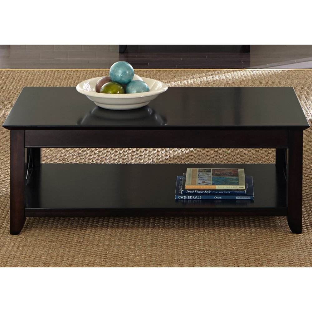 Transitional coffee table - Transitional Dark Mocha Brown Coffee Table Piedmont Rc Willey Furniture Store