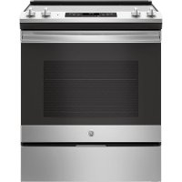 JS645SLSS GE Stainless Steel 5.3 cu. ft. Slide-In Electric Range with Self-Cleaning Oven