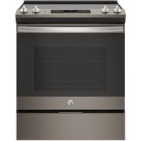 JS645ELES GE 30 Inch Slate 5.3 cu. ft.  Slide-In Electric Range