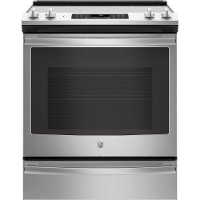 JS760SLSS GE 5.3 cu. ft. Electric Range with True European Convection - Stainless Steel