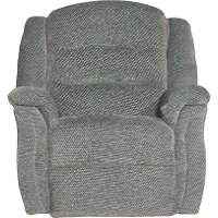 Smoke Gray Manual Rocker Recliner - Max