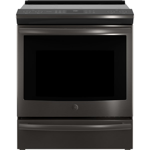 Ge Profile Induction Range 5 3 Cu Ft Black Stainless Steel Rc Willey Furniture