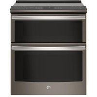 PS960ELES GE Profile Double Oven Electric Range - 6.6 cu. ft. Slate