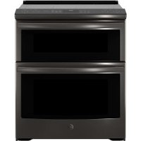 PS960BLTS GE Profile Series 30 Inch Black Stainless Seel Slide-In Electric Double Oven Convection Range