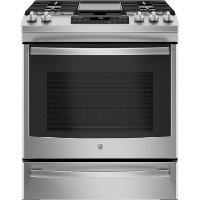 JGS760SELSS GE 30 Inch Slide-In Front Control Convection Gas Range - Stainless Steel
