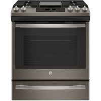 JGS760EELES GE 5.6 cu. ft. Slide-In Front Control Convection Gas Range - Slate