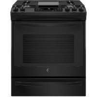 JGS760DELBB GE 30 Inch Black Slide-In Front Control Convection Gas Range