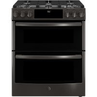 PGS960BELTS GE Profile Double Oven Gas Range - 6.7 cu. ft. Black Stainless Steel