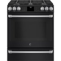 CGS986EELDS GE Café Series 30 Inch  Black Slate 6.7 cu. ft. Front Control Gas Oven with Convection Range