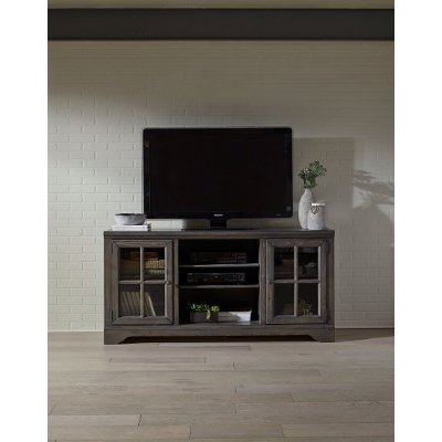 66 Inch Charcoal Brown TV Stand - Dilworth