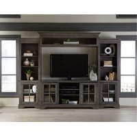 Storm Gray 4 Piece Chic Entertainment Center - Dilworth