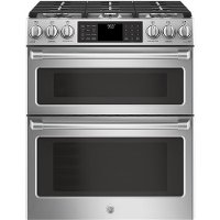CGS995SELSS GE Café Series 6.7 cu. ft. Slide-In Gas Double Oven with Convection Range - Stainless Steel