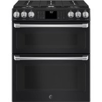 CGS995EELDS GE Cafe Series Double Slide-in Gas Range - Black Slate