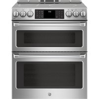 CHS995SELSS GE Cafe Induction and Convection Double Oven Range - Stainless Steel