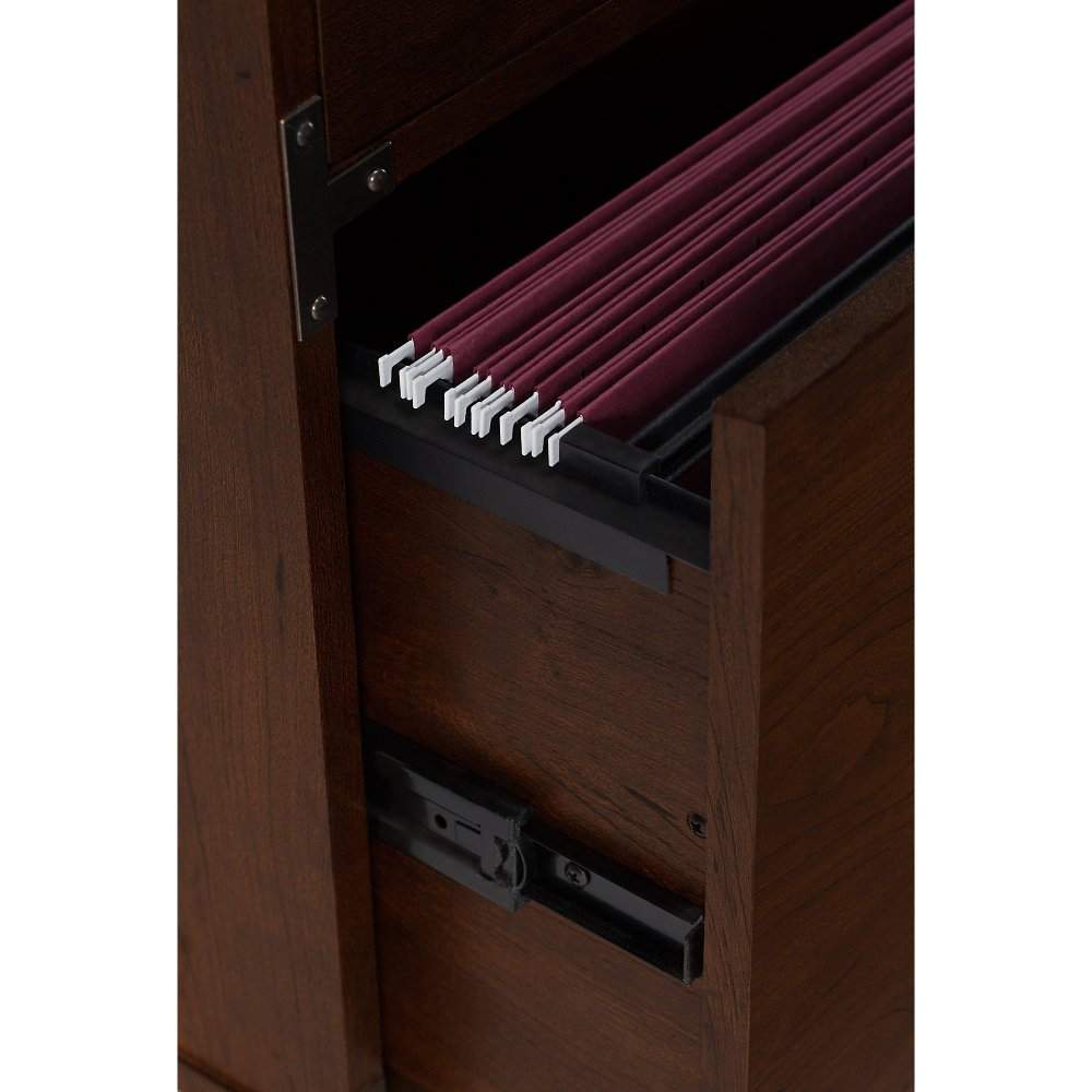 Cherry 2 Drawer File Cabinet On Wheels   Ironworks | RC Willey Furniture  Store