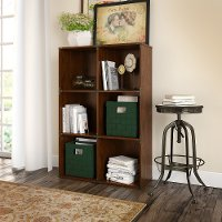 Cherry 6-Cube Bookcase - Ironworks