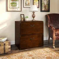 Cherry 2 Drawer Lateral File Cabinet - Ironworks