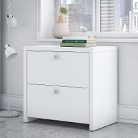 White 2 Drawer Lateral File Cabinet - Echo