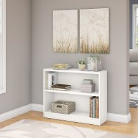 White 2-Shelf Bookcase - Universal