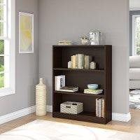 Mocha Cherry 3-Shelf Bookcase - Universal