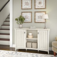 Antique White Storage Sideboard with Doors - Salinas