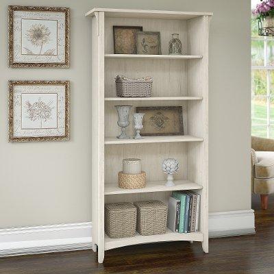 Antique White 5 Shelf Bookcase