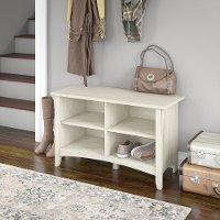 Antique White Shoe Storage Bench Salinas Rc Willey Furniture Store