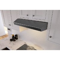 AK1200BBS Zephyr Breeze II 30 Inch Range Hood with LED lighting - Black Stainless Steel