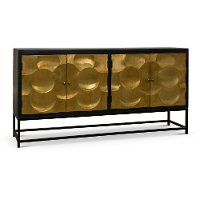 Black and Gold Dining Sideboard - Capiz