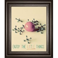 Enjoy the Little Things Ball and Jacks Framed Wall Art