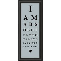 I Am Crazy in Love with You Framed Eye Chart Wall Decor