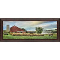 Hay Harvest Horizontal Framed Wall Art