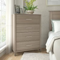 Ash Gray 4-Drawer Chest - Somerset