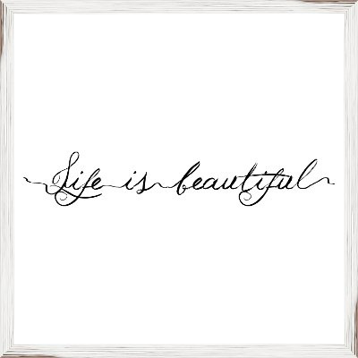 Life is Beautiful Elegant Framed Wall Art