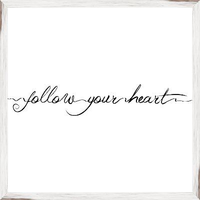 Elegant Follow Your Heart Framed Wall Art