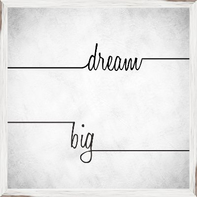 Dream Big Elegant Script Framed Wall Art