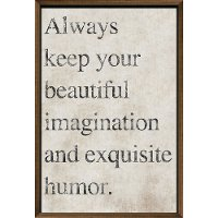 Always Keep Your Beautiful Imagination Framed Wall Decor