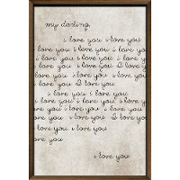 My Darling, I Love You Framed Wall Art