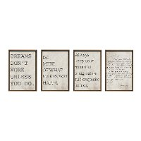 Love and Happy Framed Wall Art - Set of 4