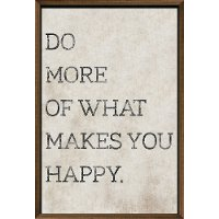 Do More of What Makes You Happy Neutral Framed Wall Art