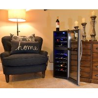 AB-WINE27DS Black and Silver 27 Bottle Thermoelectric Wine Cooler