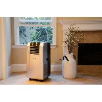 AC-12200E White and Gray 12,000 BTU Portable Air Conditioner