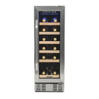 AWR-190SB Stainless Steel/ Black 19 Bottle Wine Cooler