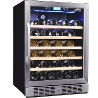 AWR-520SB Stainless Steel/ Black 52 Bottle Wine Cooler