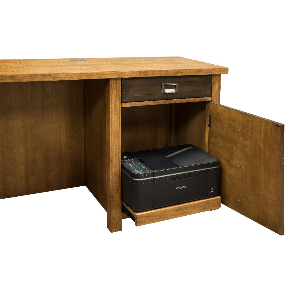 Rustic Hickory Brown L Shaped Desk Heritage Rc Willey Furniture