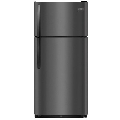 FFTR1821TD Frigidaire Top Freezer Refrigerator - 18.0 cu. ft., 30 Inch Black Stainless Steel