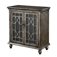 Textured Metallic 2 Door Cabinet - DeVille